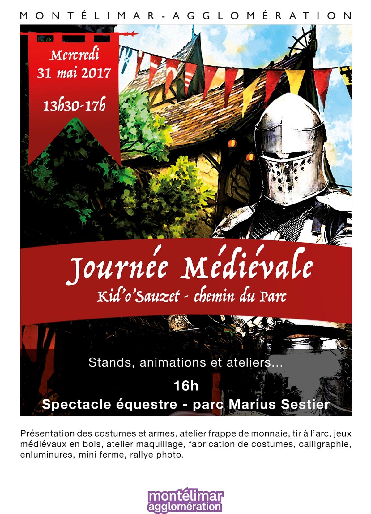 Journée Médiévale au Centre Aéré de Sauzet (Drôme) le 31 mai2017